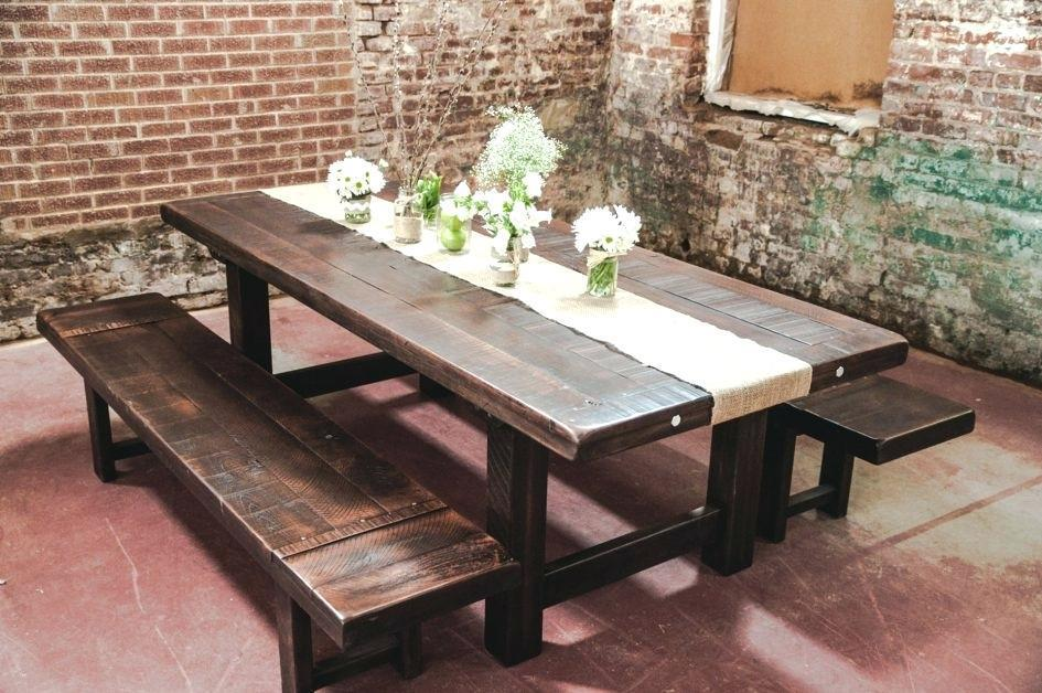 Image of: Rustic Farm Table Plans