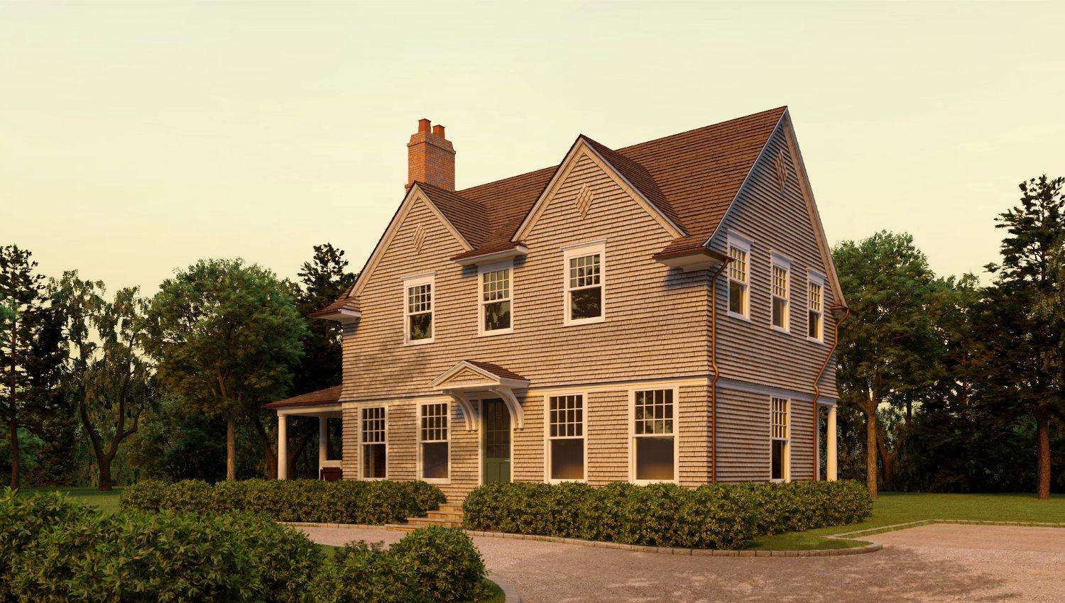 Image of: Shingle Style House Plans With Photo
