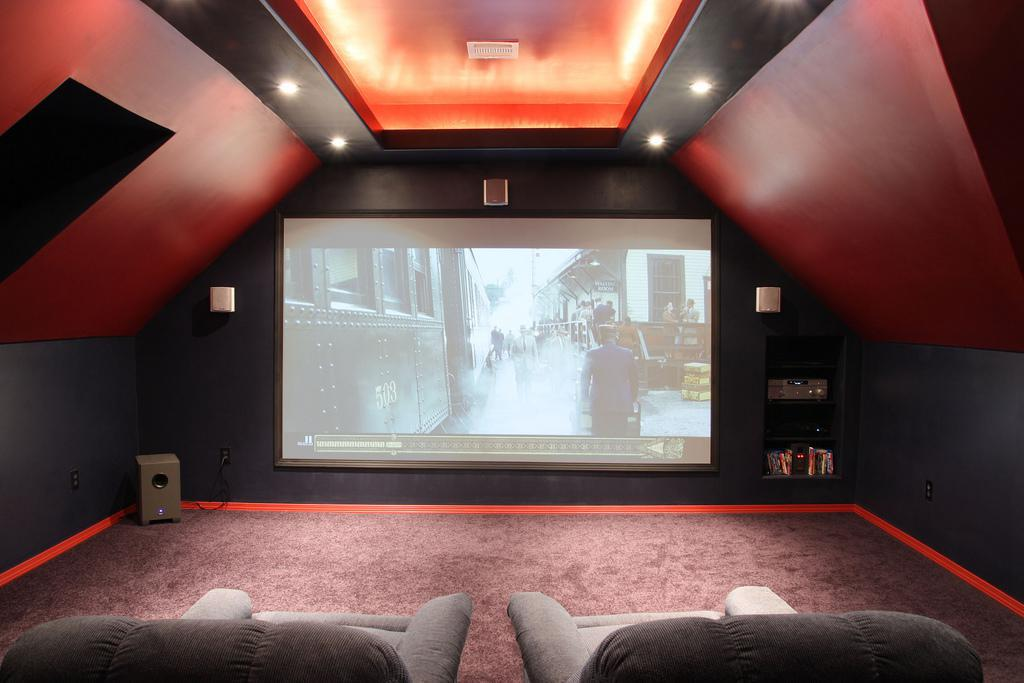 Image of: Small Attic Home Theater