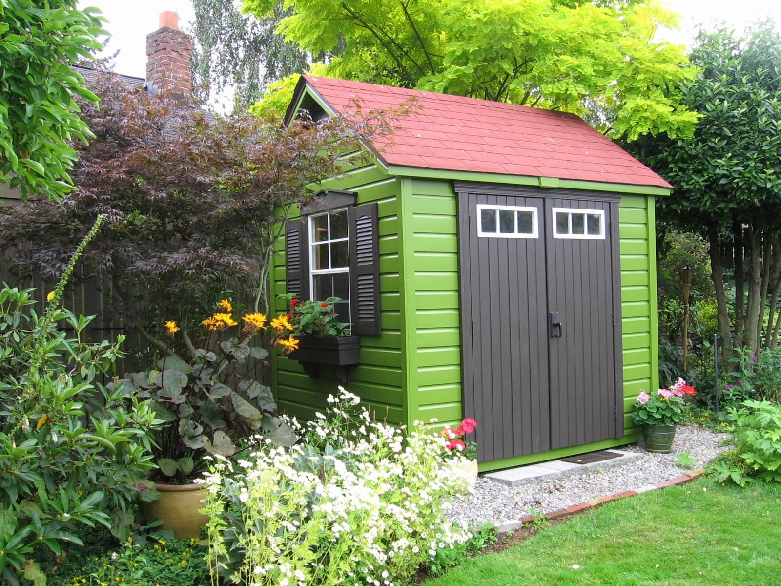 Image of: Small Garden Shed Pictures
