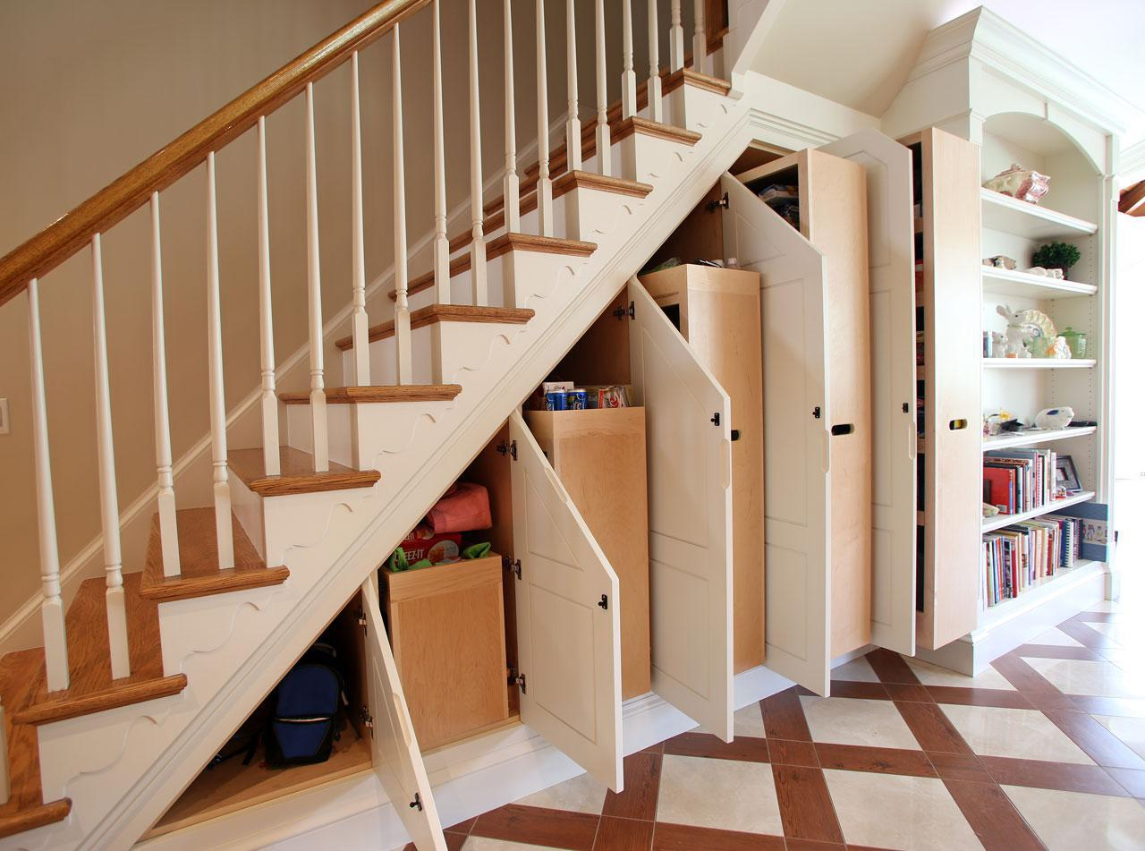 Image of: Space Under Stairs Storage