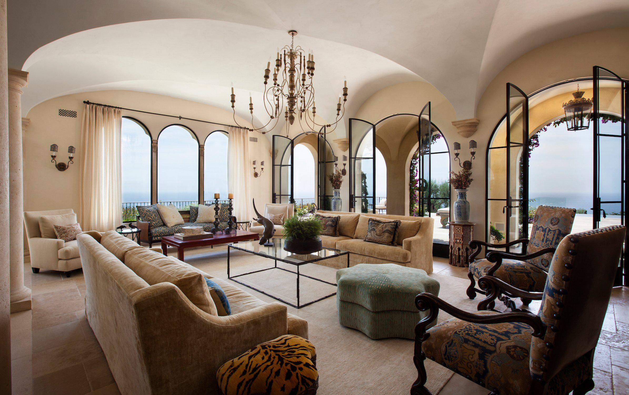 Image of: Tuscan Living Room Design