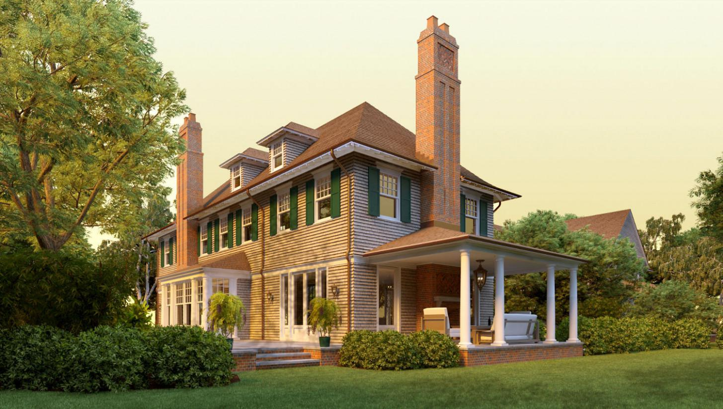 Image of: Victorian Shingle Style House Plans