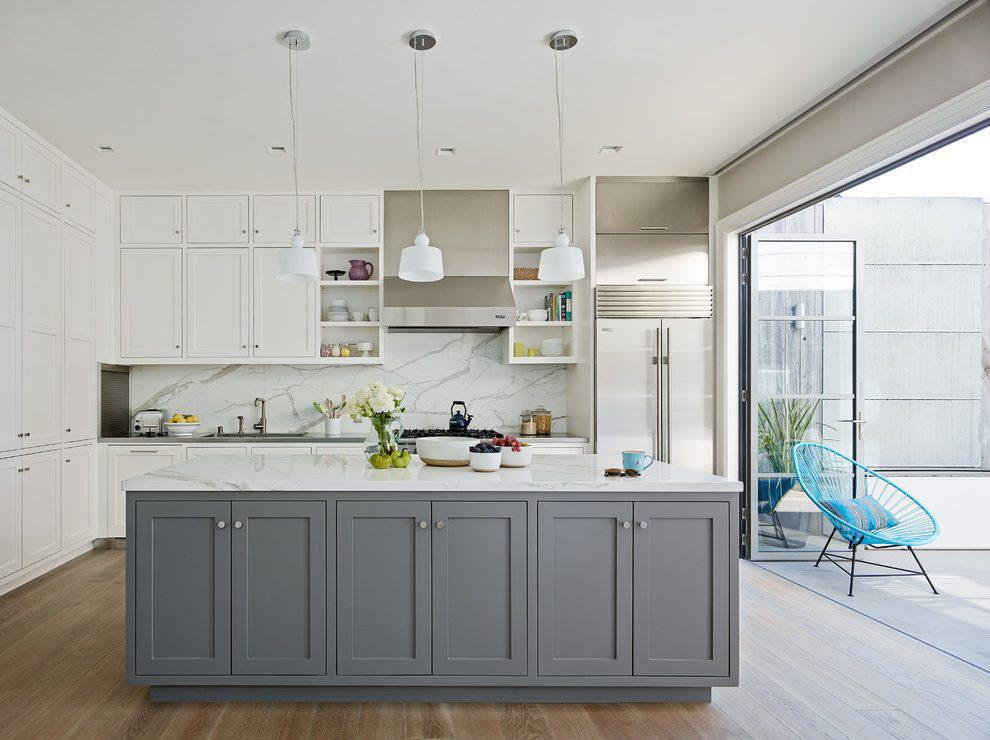 Image of: White And Grey Kitchens Pictures
