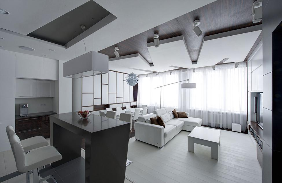 Image of: White Apartment Design
