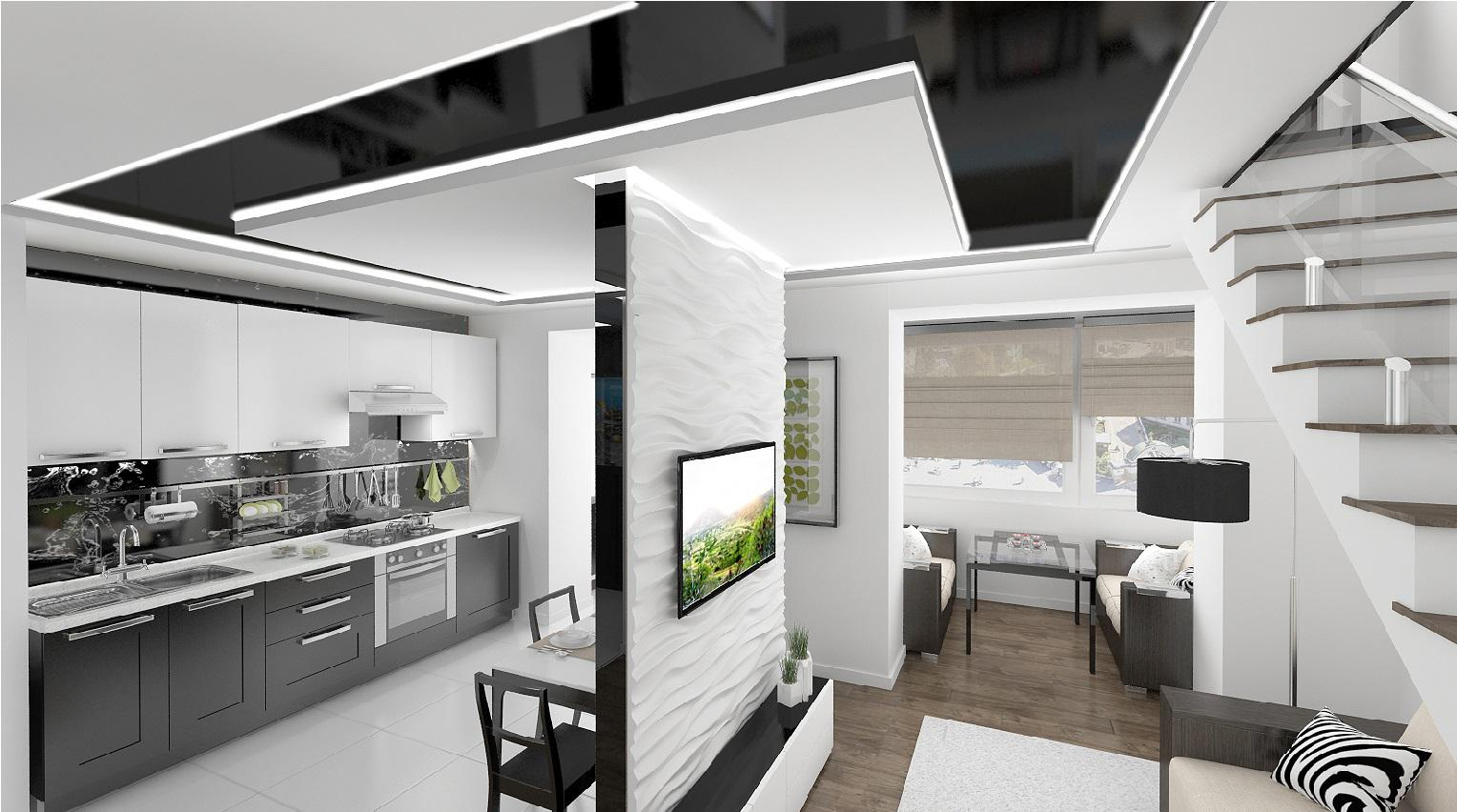 Image of: White Apartment Kitchens