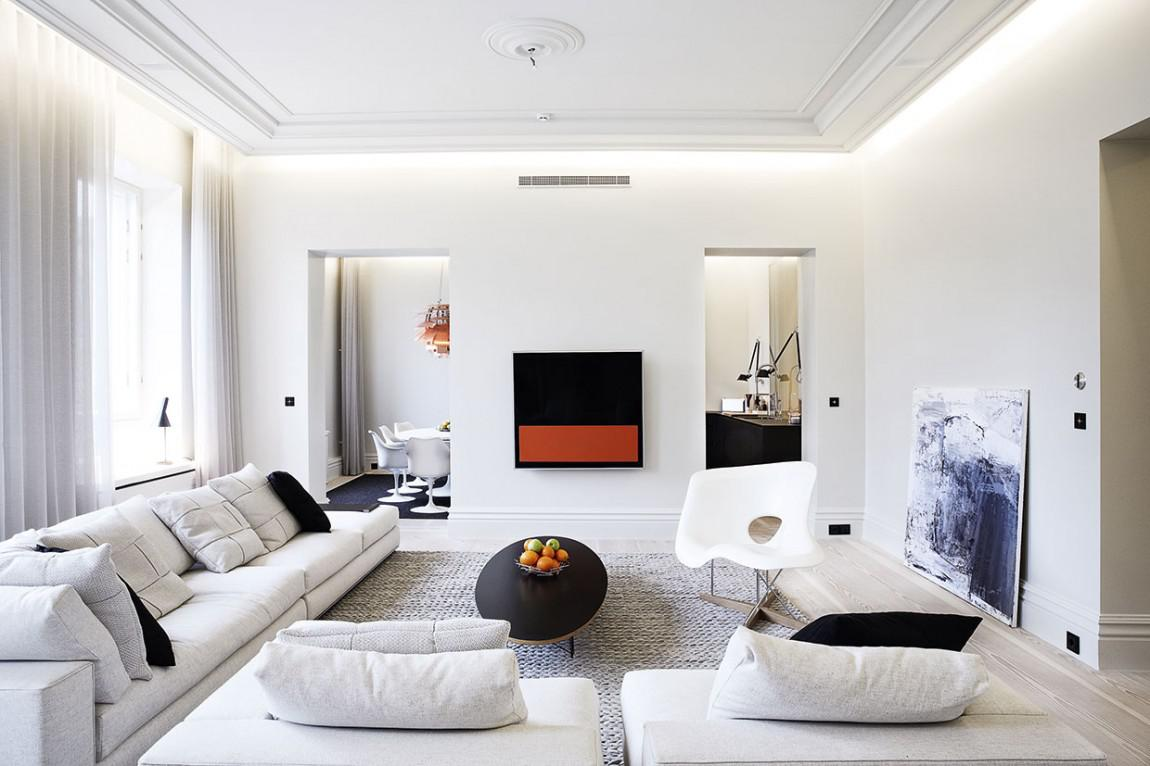 Image of: White Apartment Living Room