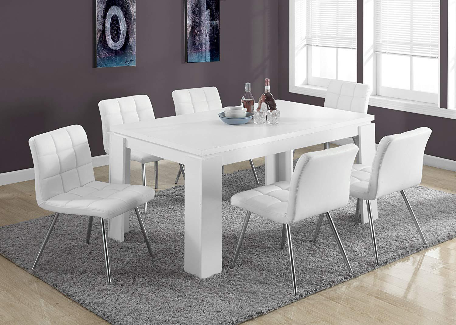 Image of: White Dining Table Ebay