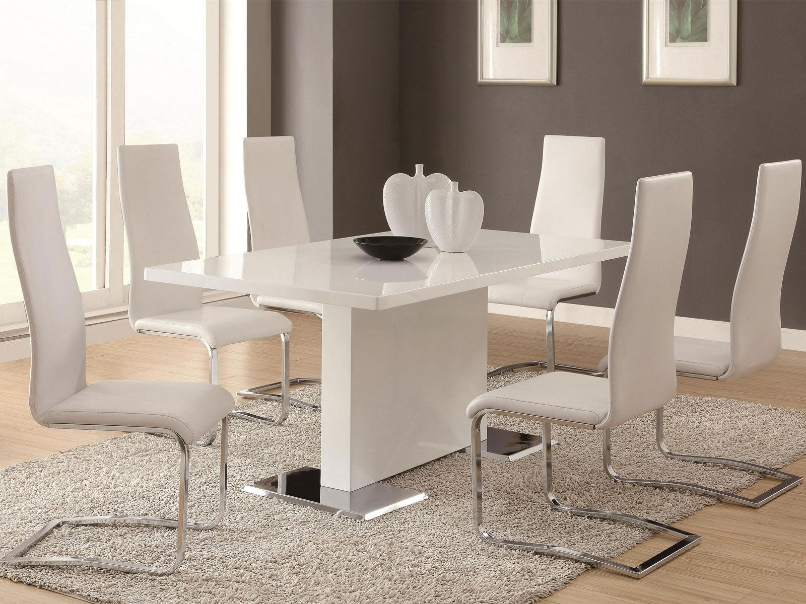 Image of: White Dining Table Ideas