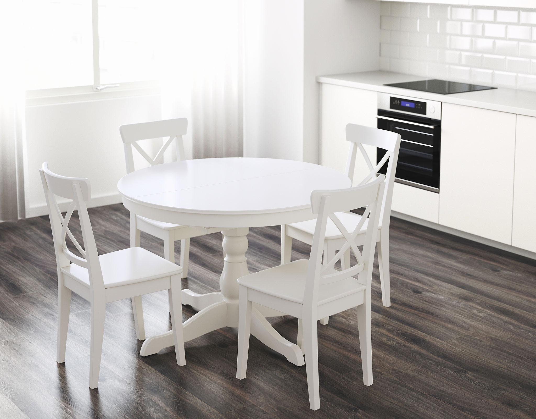 Image of: White Dining Table Set Ikea