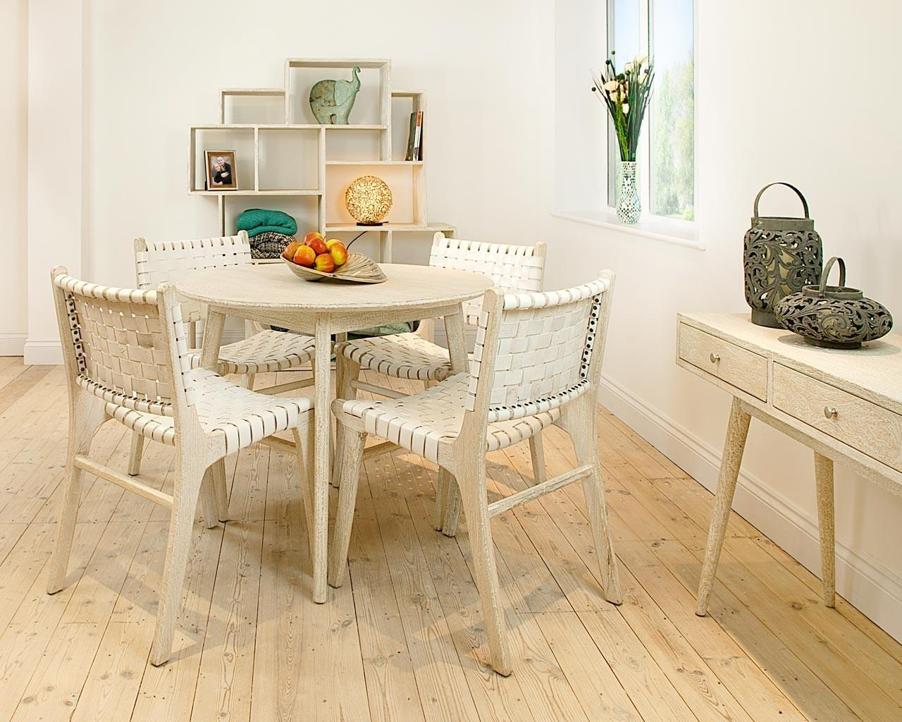 Image of: White Dining Table Style