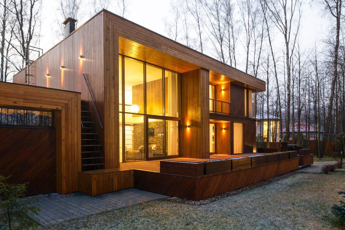 Image of: Wooden House Design Simple