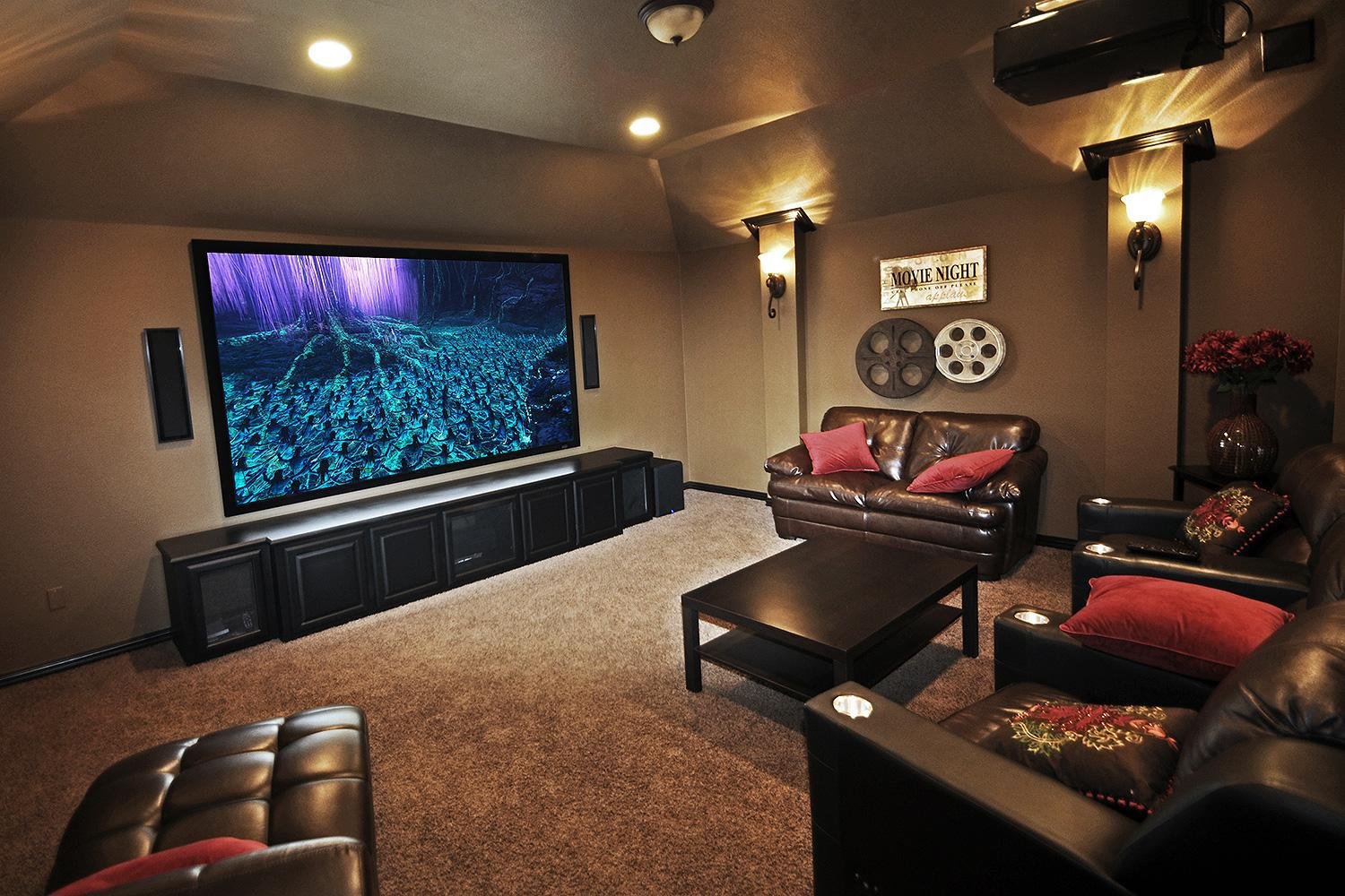 Image of: Home Movie Theater Lighting