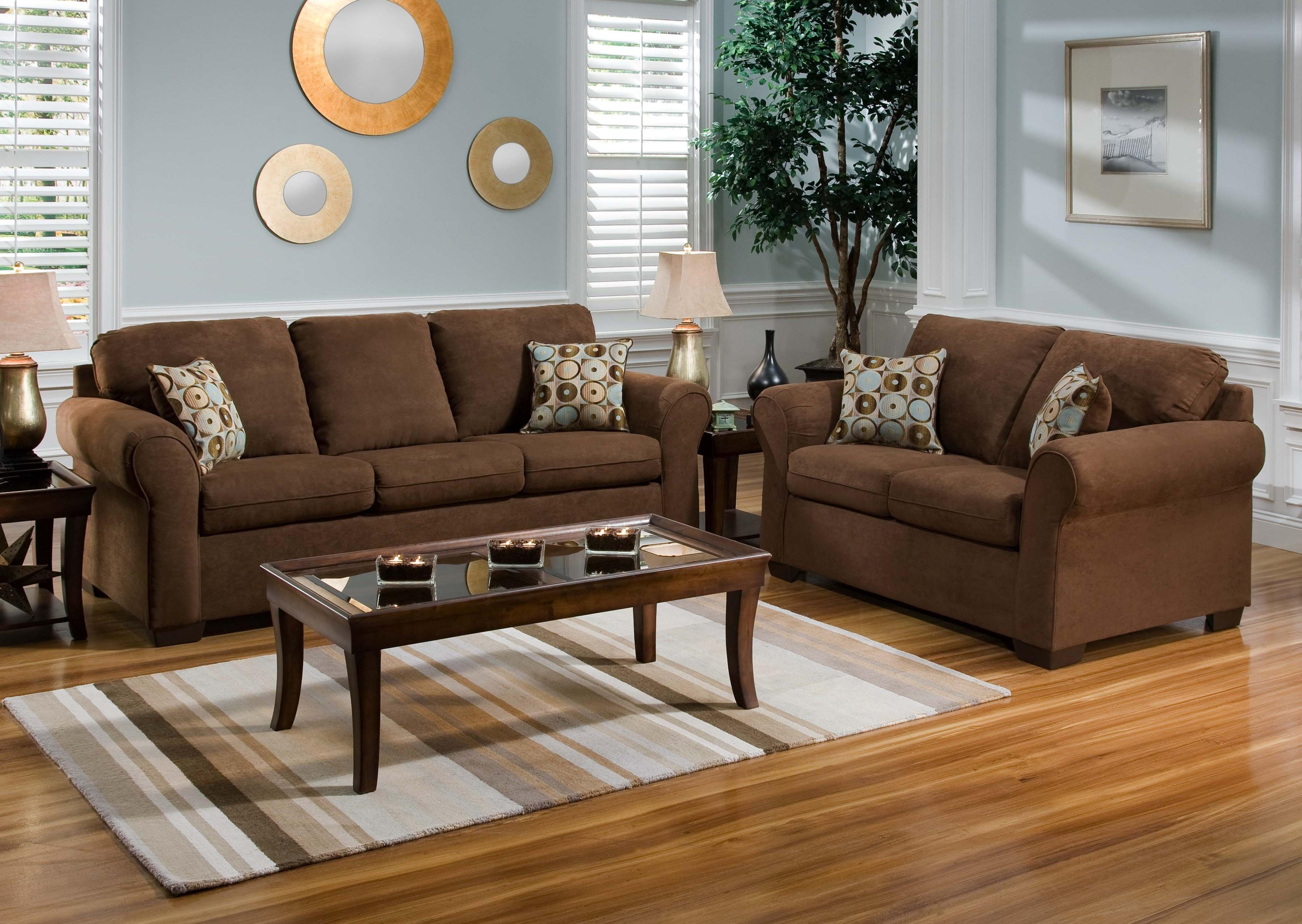 Image of: Paint Color Ideas For Living Room With Brown Furniture