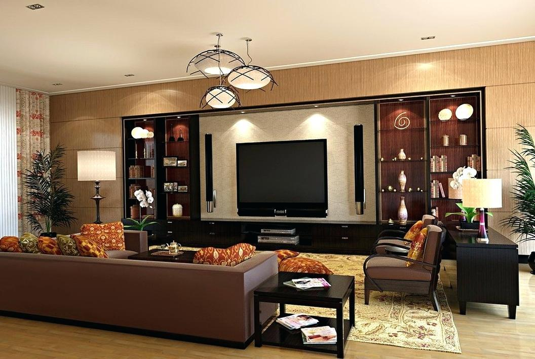 Image of: Paint Color Ideas Living Room With Brown Furniture
